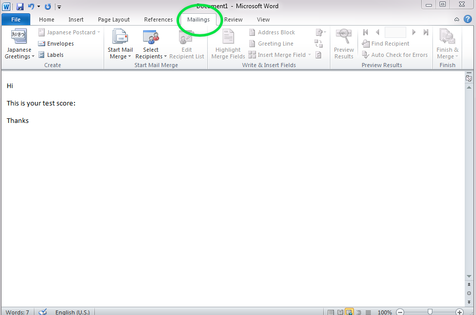 Creating an email merge with Outlook, Word and Excel 2010 – ITS